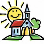 church sun summer clipart