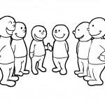 men in group