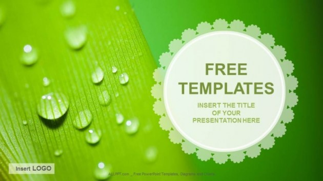 droplets Nature PPT Templates   Download Free   droplets Nature PPT Templates