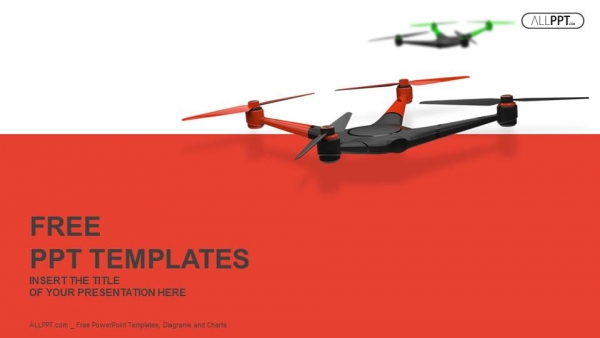 Flying drone  Quadrocopter PowerPoint Templates Quadrocopter PowerPoint Templates  1