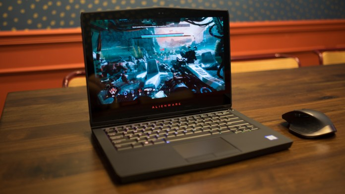 Image result for Dòng sản phẩm laptop gaming Alienware 13 R3 OLED
