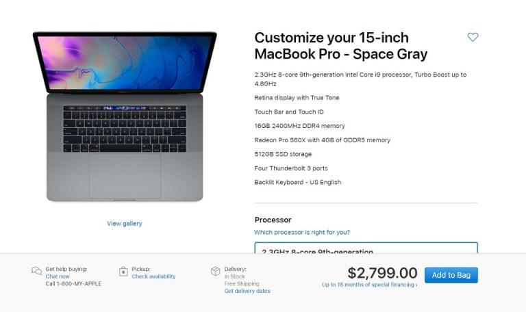 Macbook Pro 2019 02