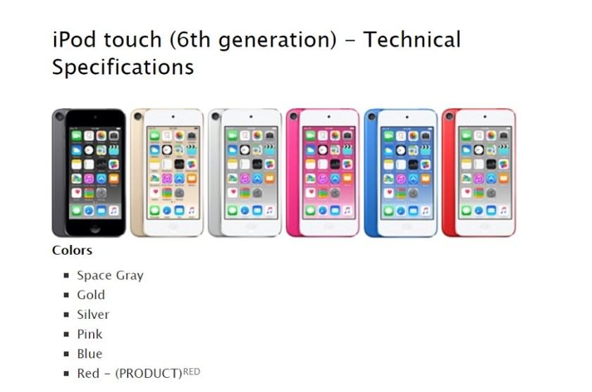 Apple iPod touch gen 6 vs gen 7 01