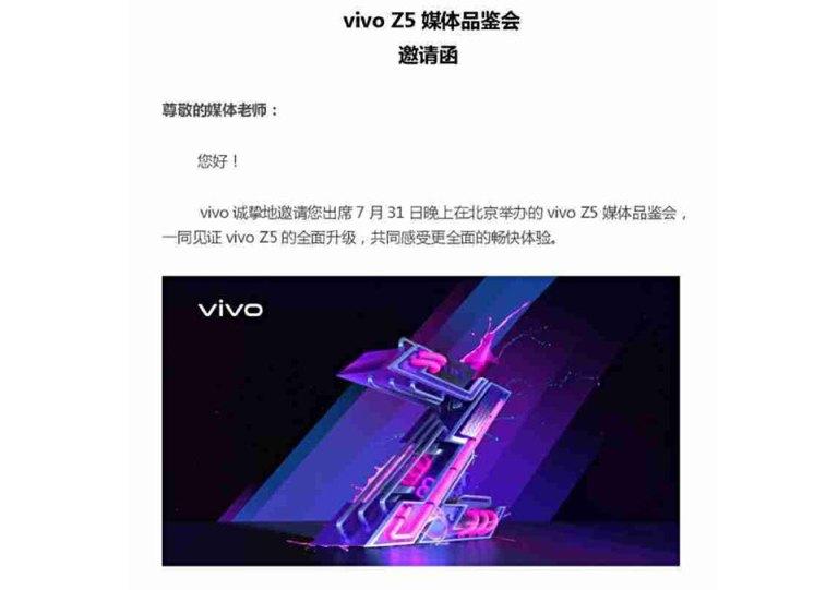 Poster Vivo Z5 bị rò rỉ