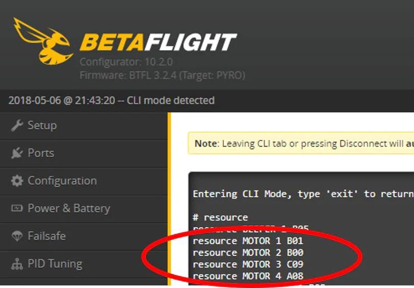 Betaflight ESC Resource Re-mapping - FPV FlightClub
