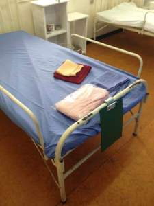 Patient bed in Nigeria Trovan Phizer meningitis epidemic in Kano