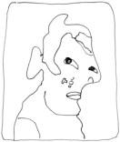 Orlan autoportrait:selfportrait dessin