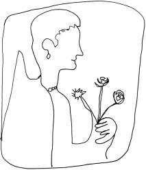 Sofonisba_Anguissola_Femme digne Renaissance avec fleurs:proud woman w:flowers