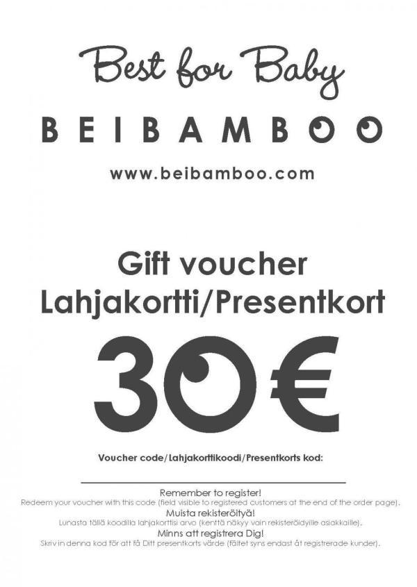 Beibamboo 30 € Gift Voucher