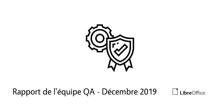 Rapport de l'équipe QA - Décembre 2019