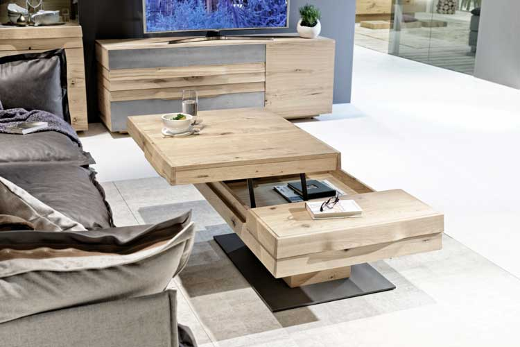 table basse transformable convertible extensible