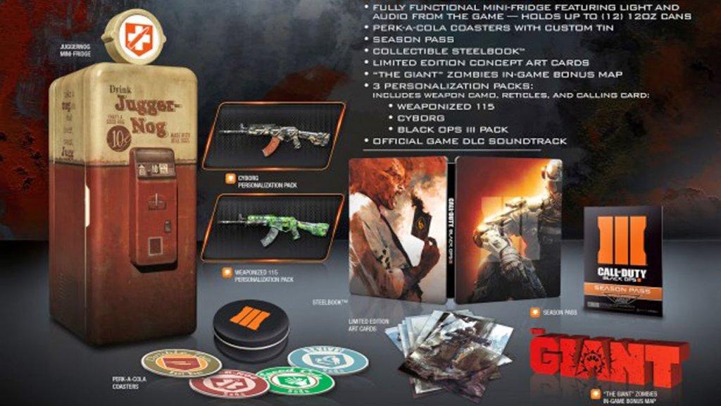 Black Ops 3 Collector Edition Mini Frigo COD BO3