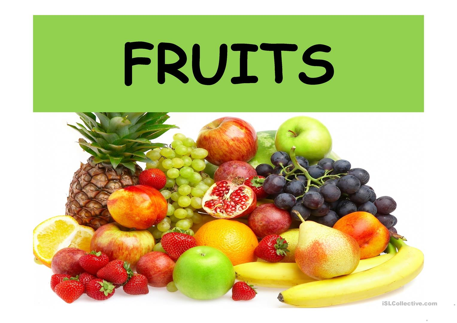 Les Fruits Fiche D Exercices