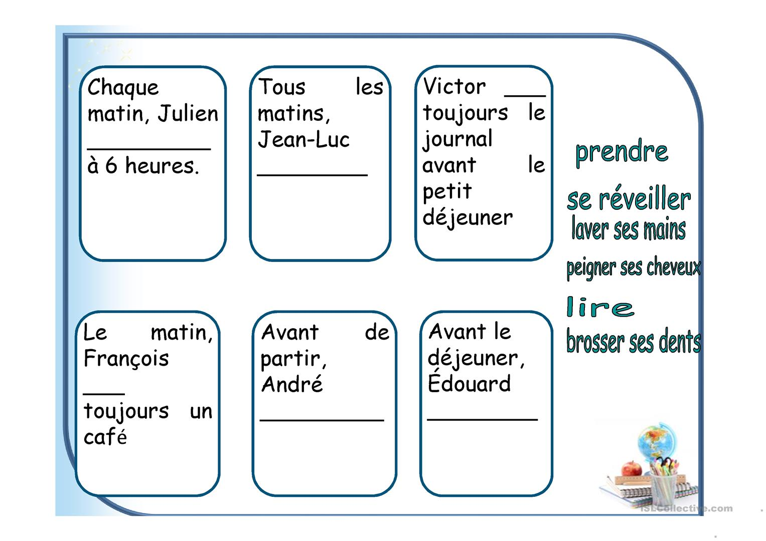 Ma Routine Fiche D Exercices
