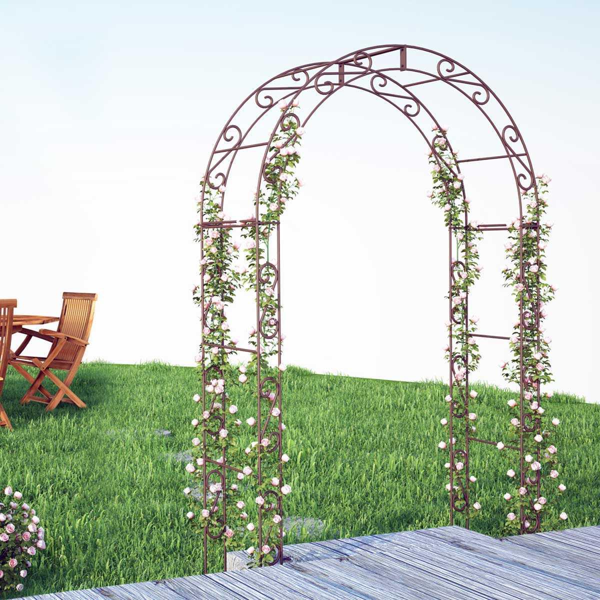 arche de jardin arrondie en acier plein vente au meilleur prix jardins animes