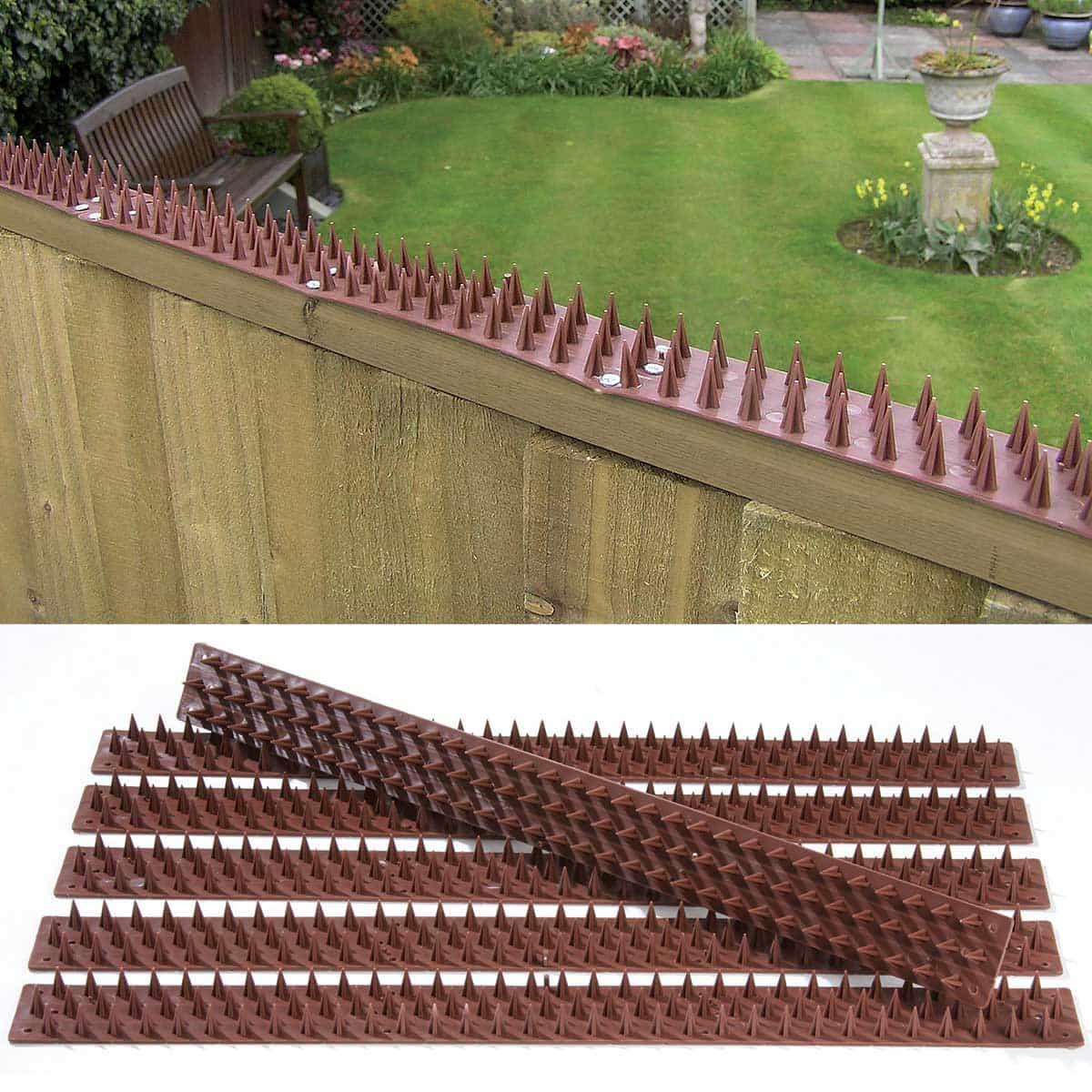 barriere anti pigeons inoffensive 3m de long en plastique recycle