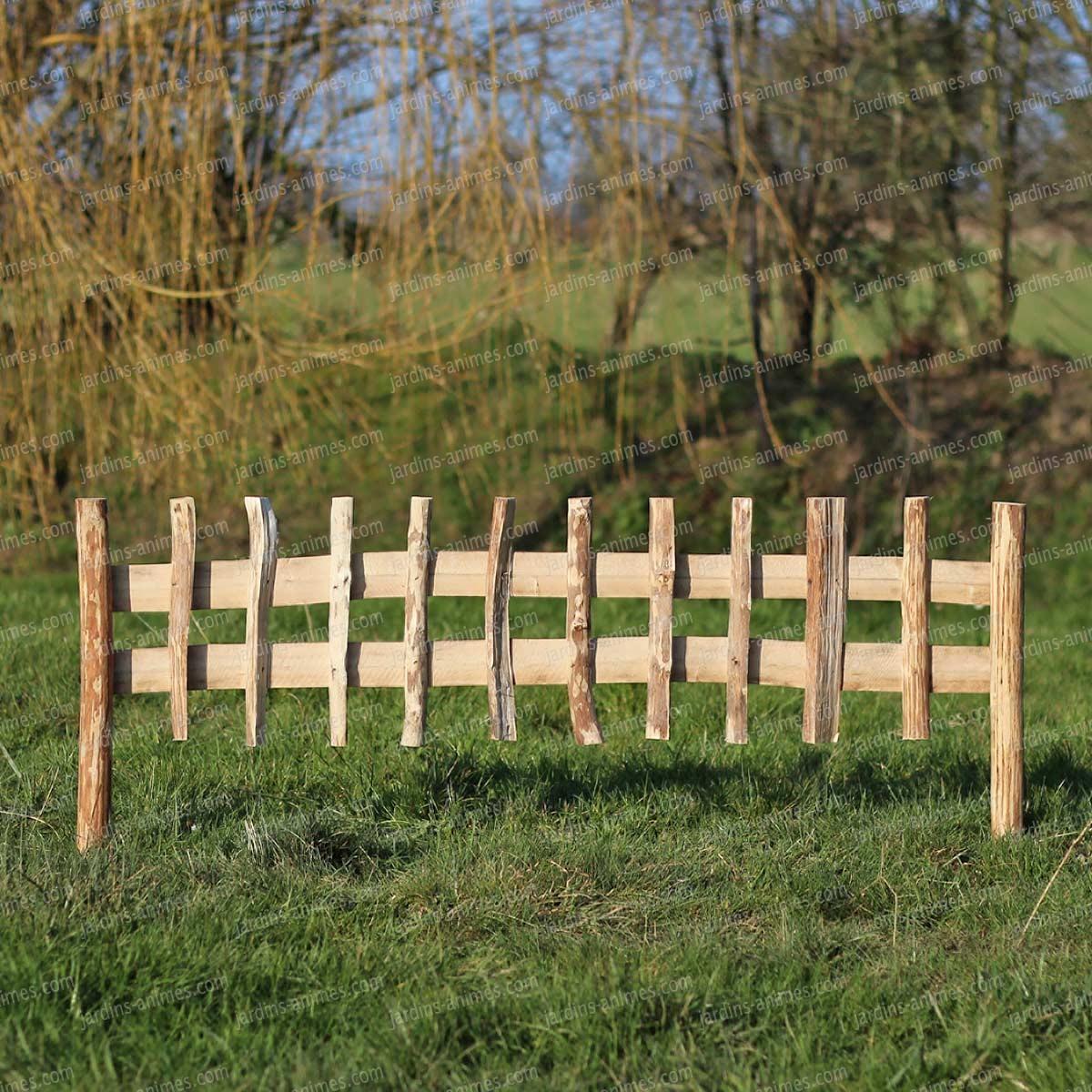cloture bois noisetier a planter l 120cm x h 50cm