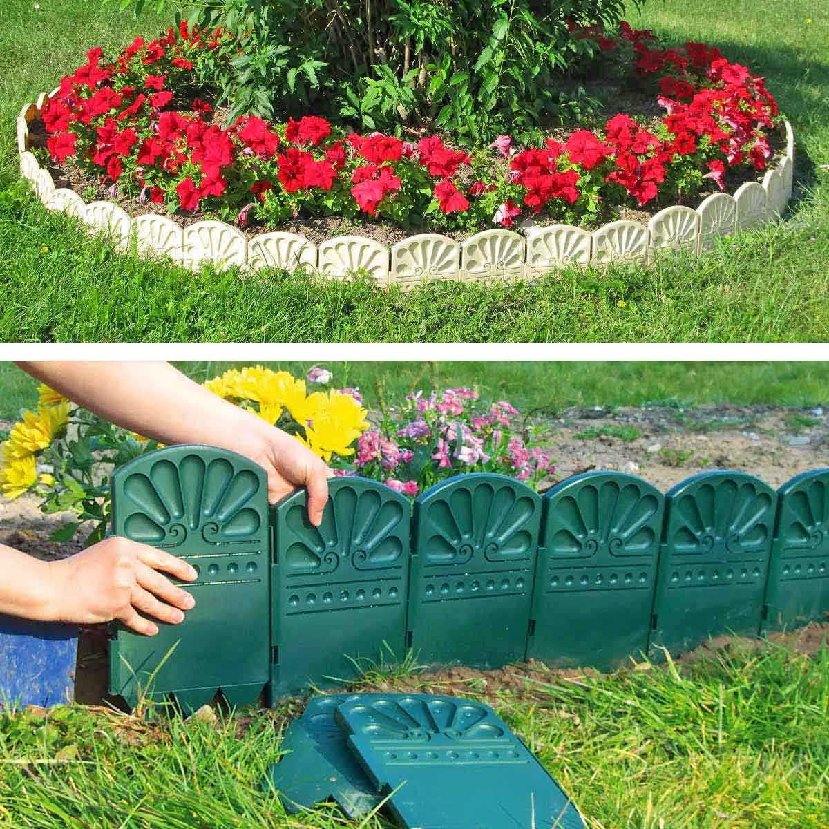 bordures decoratives de jardin en plastique vente au meilleur prix jardins animes