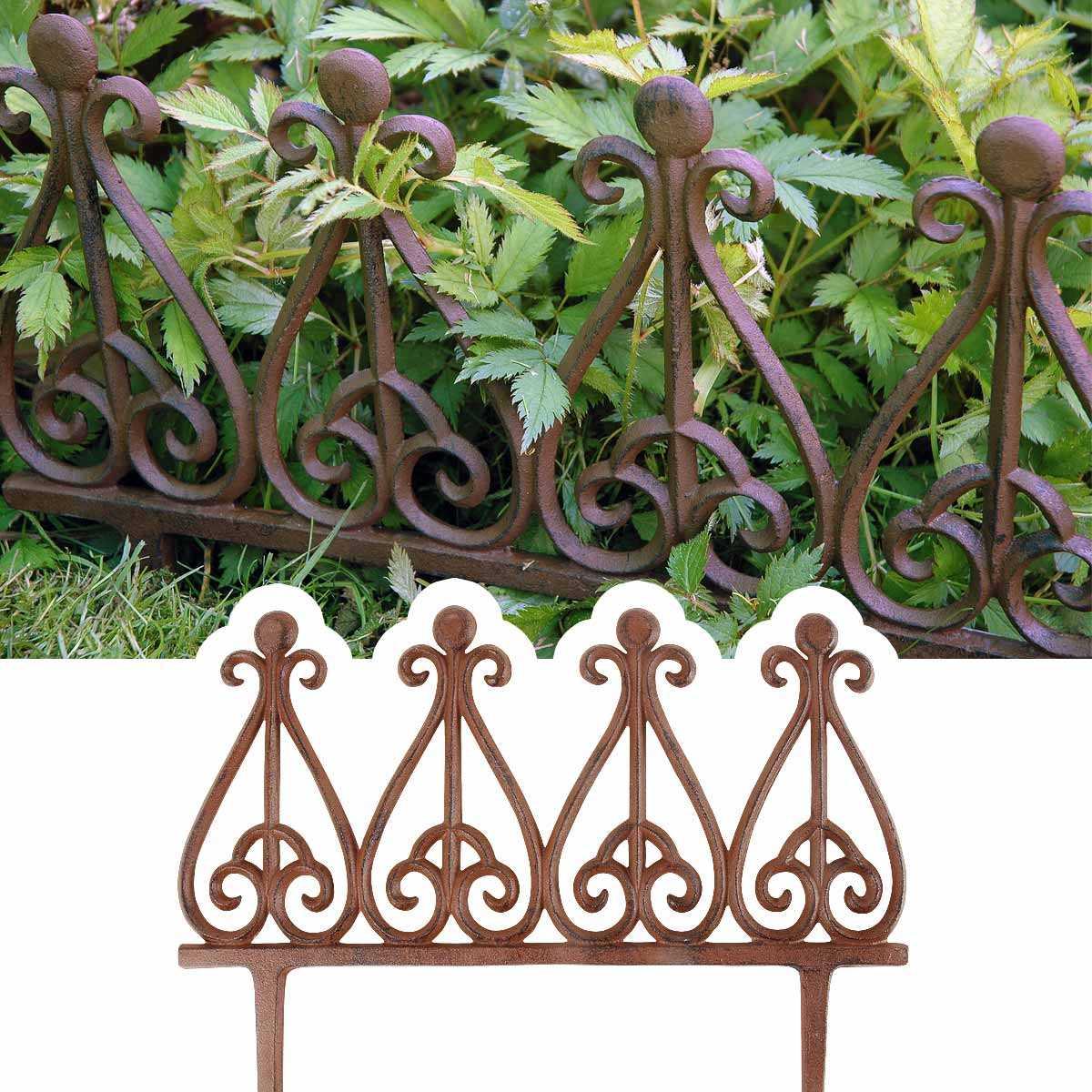 bordure metal fonte style antique vente au meilleur prix jardins animes