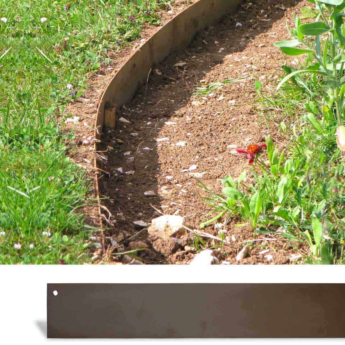 bordurette de jardin metal acier 1 8m lot de 4