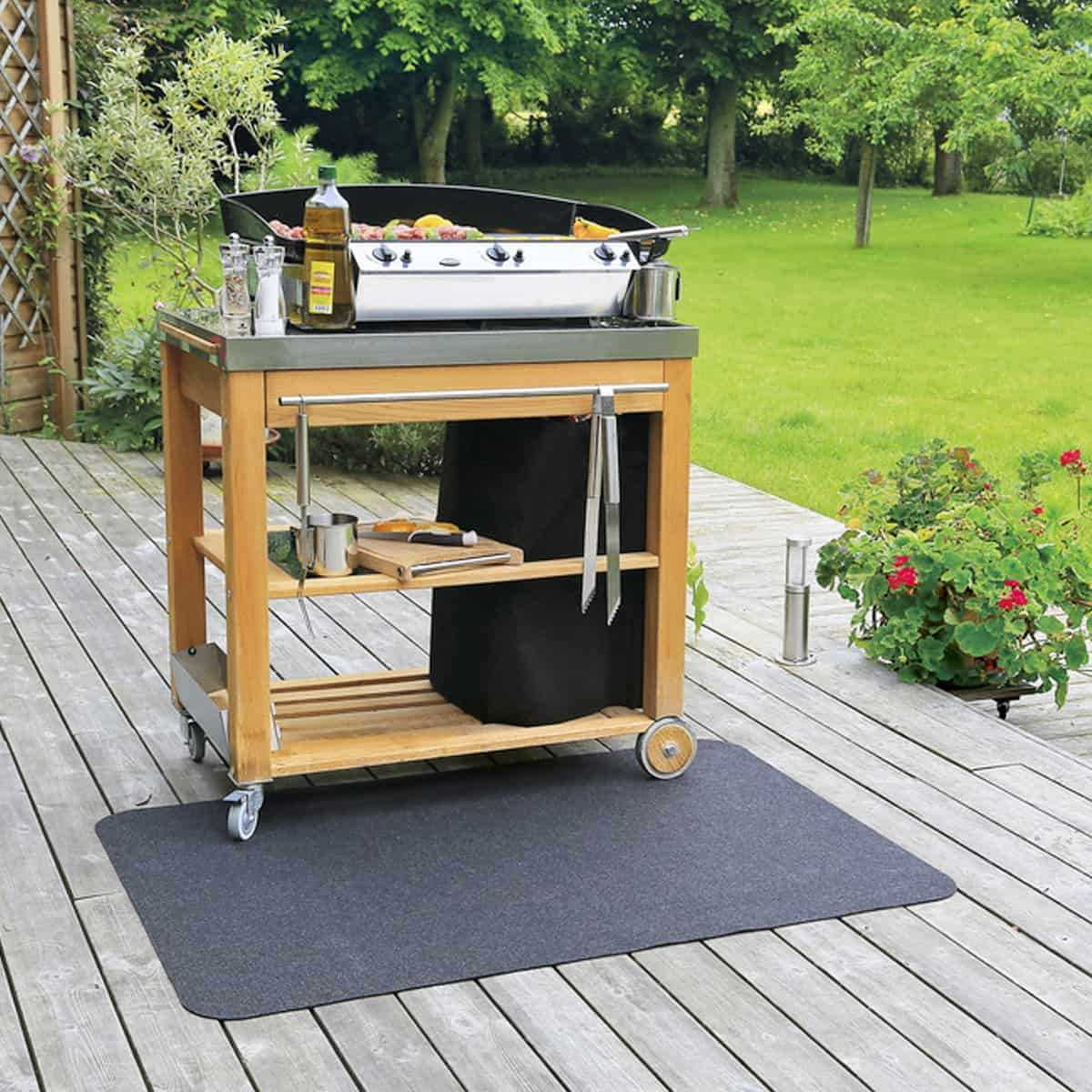 tapis de protection de sol plancha barbecue a petit prix