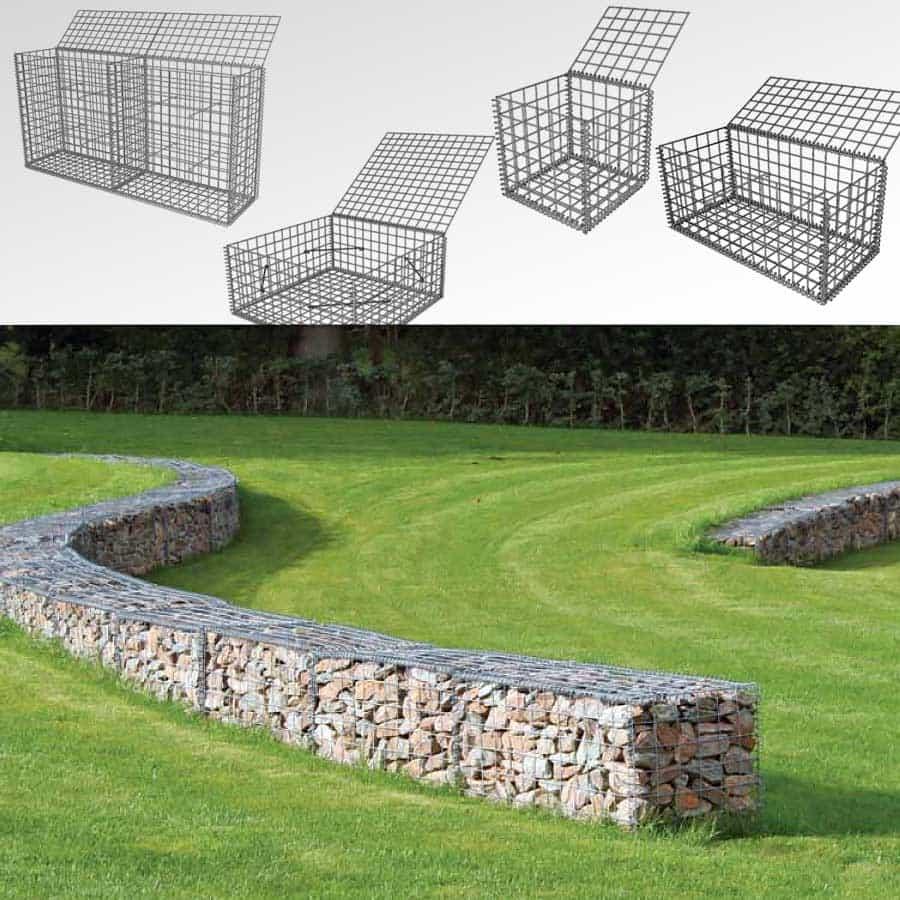 gabion cage metallique fil 3mm maille 76mm