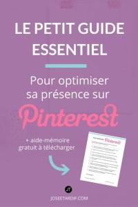 Guide contenant toutes les étapes pour démarrer sur Pinterest.