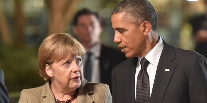 President Obama et la Chancelliere Angela Merkel