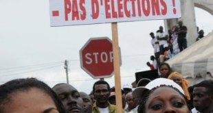 Meeting de l'opposition, le 1er octobre 2011 à Libreville