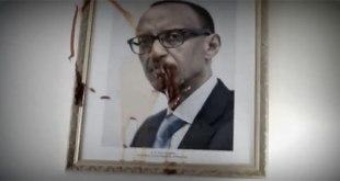 Ambassade du Rwanda à Paris : Les Congolais ont aspergé de la peinture rouge sang sur le portrait du dictateur rwandais Paul KAGAME.
