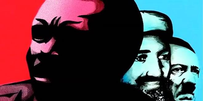 Portrait de Joseph KONY, Osama bin Laden et Adolf Hitler