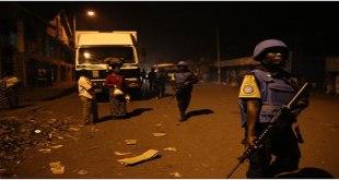 Photo d'une unite des Casques bleus sénégalais a Goma
