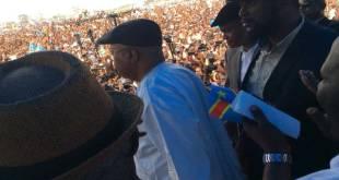 Etienne TSHISEKEDI, lors de son entrée devant la foule au Stade de Martyrs, 31 Juillet 2016.