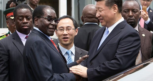 Xi Jinping and Robert Mugabe
