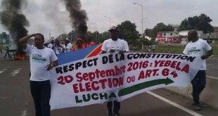 Manif a Kinshasa, membres de LUCHA.