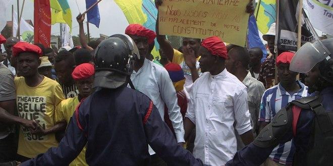 Goma, manifestation