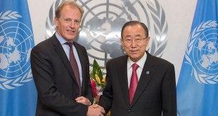 Andrew GILMOUR et Ban Ki-Moon