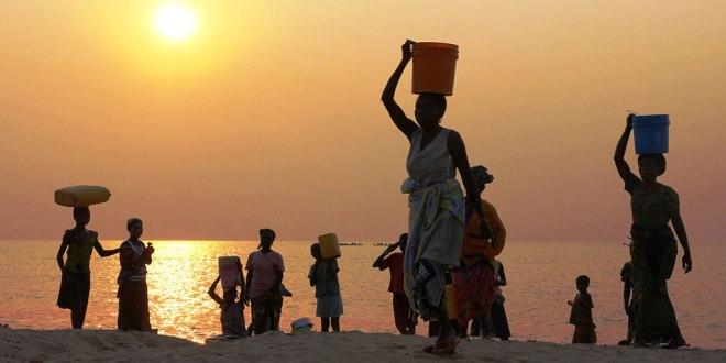 Sun rise, Lac Tanganyika, Katanga, DRC, September 2013