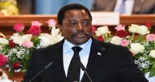 Joseph Kabila, lors de son speech, le 5 avril 2017, au Palais du Peuple.