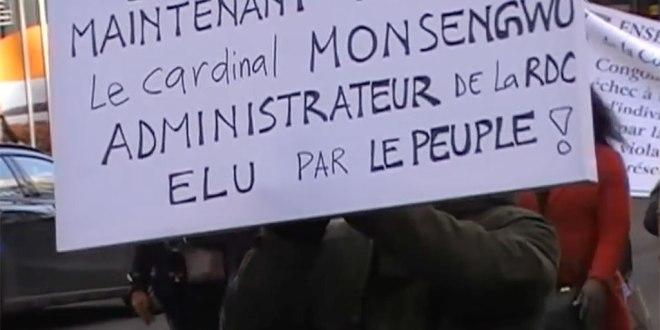"""""""Kabila"""" doit partir : Les Congolais ont manifesté à Bruxelles pour soutenir le CLC"""