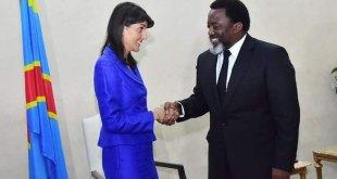 Nikki Haley reçue par Joseph-Kabila, Kinshasa le 27 Octobre 2017.