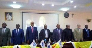 """Conference de presse de la plate electorale """"Ensemble"""" de Moise Katumbi."""