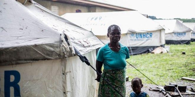 Dans camp des refugies au Congo-Brazzaville.