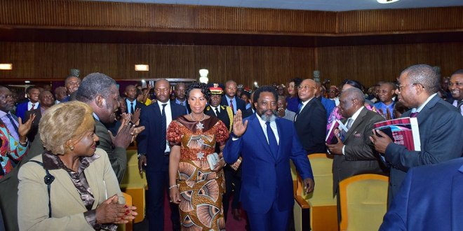 Joseph et Olive-Lembe KABILA, 19 Juilet 2018, Palais du Peuple, Kinshasa.