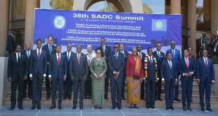 Photo de famille, sommet de la SADC Aout 2018 en Namibie.