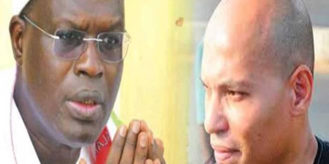 Khalifa SALL et Karim WADE, politiciens sénégalais.
