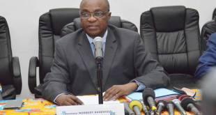 Vice-president de la CENI RDC, Norbert BASENGEZI KATINTIMA, lundi 03/9/2018, a Kinshasa.