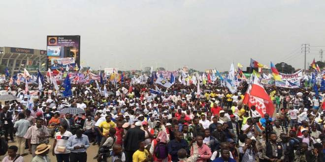 Meeting de l'Opposition politique, a Kinshasa.