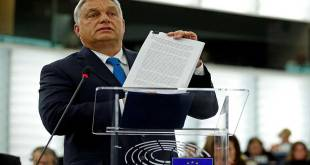 Victor ORBAN, parlement européen, Strasbourg, France, September 11, 2018.