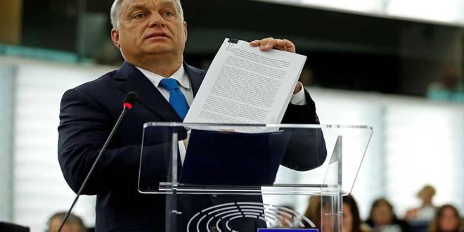 Victor ORBAN, parlement européen, Strasbourg, France, September 11, 2018.